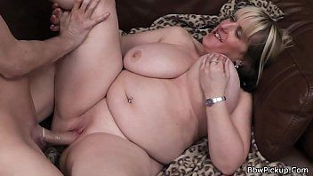 Large breasts golden-haired plumper picked up on the street