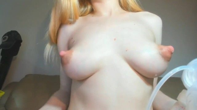 Milking big full tits. puffy nipples, milk gorged tiny