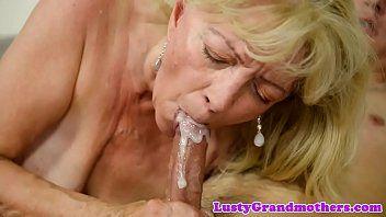 Saggytit grandma stuffed passionately