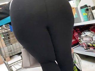 Gilf with a giant butt lets me feel it, vpl, leggings