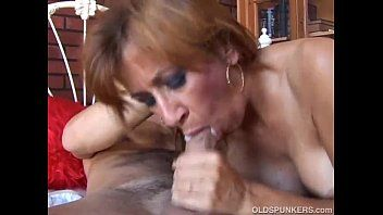 Marvelous ginger cougar enjoys a hard fuck