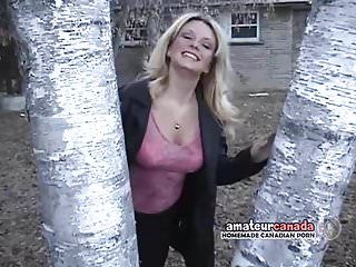 Large tit chunky girlfriend striptease outdoors for lustful bff