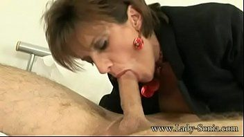 Lady sonia meets a dude at hotel and sucks the cum out of his balls