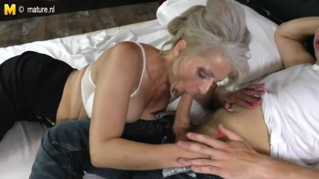 Ger: bushy grandma hard drilled by juvenile paramour
