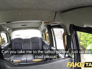 Fake taxi tattoos large love muffins and squirting snatch oral-sex lips
