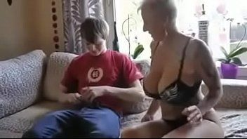 Breasty step mamma screwed by sons ally
